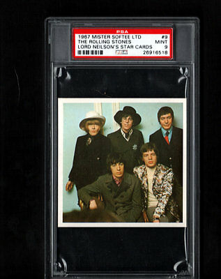 1967 Rolling Stones PSA 9 Mister Softee Lord Neilson's Star Cards # 9 POP 1/2