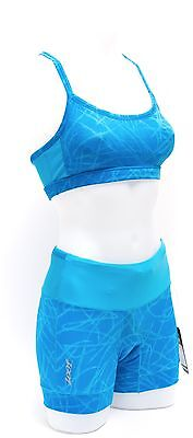 "Zoot Women Performance Tri Top + Performance Tri 4"" Medium Shorts Mali Blue NEW"