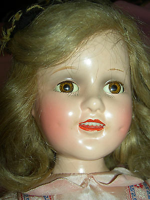 """Lovely composition 18"""" sgnd & tgd. SONJA HENIE, Mme Alexander doll & accossories"""