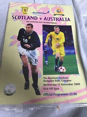 Scotland V Australia 15th November 2000 Friendly