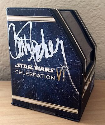 Star Wars Vinylmation Hologram Princess Leia Carrie Fisher Autograph Disney VHTF
