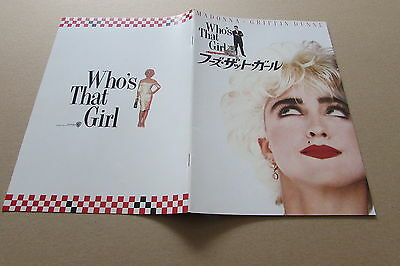 Who's That Girl Madonna Dunne Program From Japan (May 20)