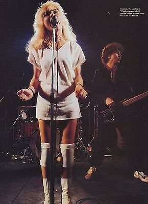 BLONDIE Debbie Harry 'in knee pads' magazine PHOTO / Pin Up / Poster 11x8 inches