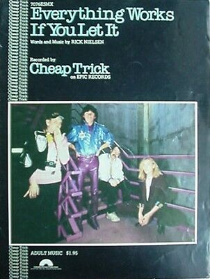 Cheap Trick Sheet Music, 1980 - Everything Works If You Let It