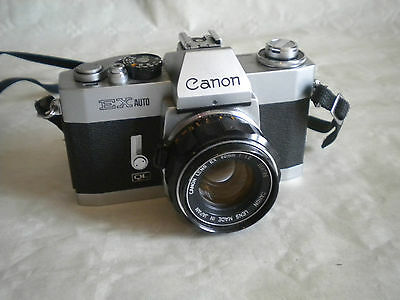 Vintage CANON EX AUTO QL camera with 50MM F1.8 lens