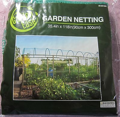 "Garden Ease Yard Netting Anti-Bird, Rodents Garden Mesh 35.4""x118"" New"