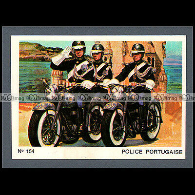 #MTP154 ★ GARDE NATIONALE REPUBLICAINE PORTUGAL 70's★ Carte Moto Motorcycle card
