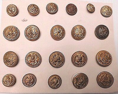 21 United States Navy Buttons (B165)