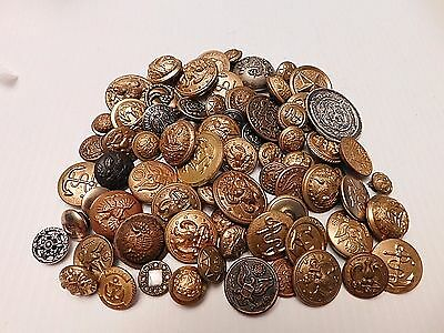 72 Assorted Uniform Buttons  (B115)