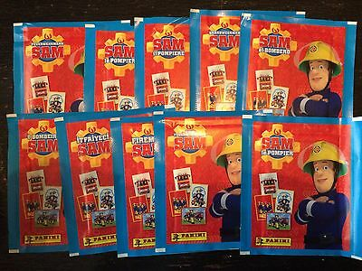 10 Packets Packs of Fireman Sam Stickers Panini Party Bag Filler