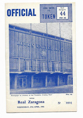 1966 Fairs Cup Semi Final 2nd Leg - LEEDS UNITED v. REAL ZARAGOZA