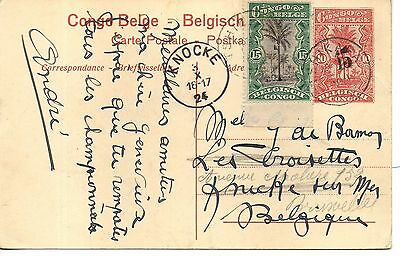 Great Belgian Congo used Tshikapa 1924 P.S. P/Card. Post Office, Boma. No.27.
