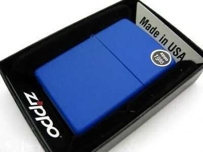 ZIPPO Full Size ROYAL Blue MATTE Finish Classic Windproof Lighter Model 229