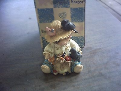 1995 This Little Piggy Share Crow Figurine With Box