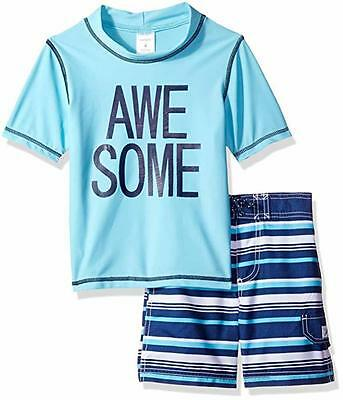 Carter's Boys Awesome Rash Guard Swim Set Size 2T 3T 4T 4 5 6 7