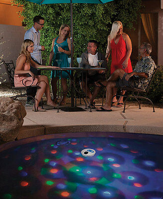 Solar Powered Underwater Pool Pond Floating Light Show
