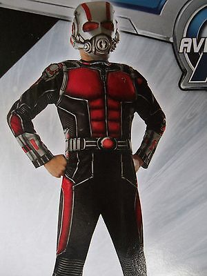 Rubies Marvel ANT MAN MUSCLE CHEST Child's Halloween Costume Boys Small Size 6