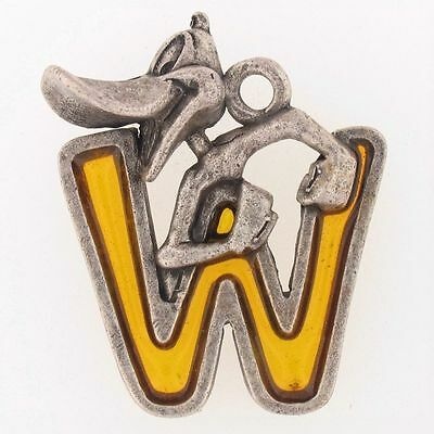 KEYCHAIN Daffy Duck INITIAL W Alphabet WARNER BROS LOONEY TUNES YELLOW WB 6208