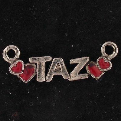 CHARM Taz Devil WARNER BROS LOONEY TUNES Silver RED HEARTS WB STORE 5430