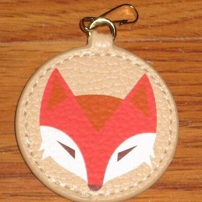 New Estee Lauder Fox Animal Leather Key Chain Fob Purse Bag Charm Gift Limited