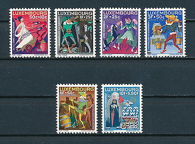 Luxembourg B246-51 MNH, Fairy Tales 1965