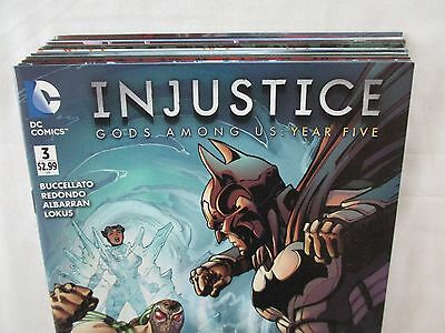 Lot Of 17 Injustice Gods Among Us YEAR FIVE Comics #3-20 + Annual 1 DC 1st Print
