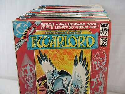 Lot Of 55 WARLORD Comics #50-118 + Annuals DC 1981-1987 Mike Grell Dan Jurgens