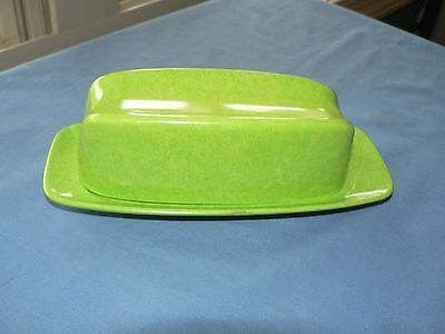 Mid Century Modern ColorFlyte BRANCHELL by MELMAC Lime Green BUTTER DISH