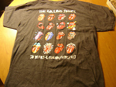 The Rolling Stones T Shirt 50 Years London Nyc Nj Tattoo You Tounge  Xl Large