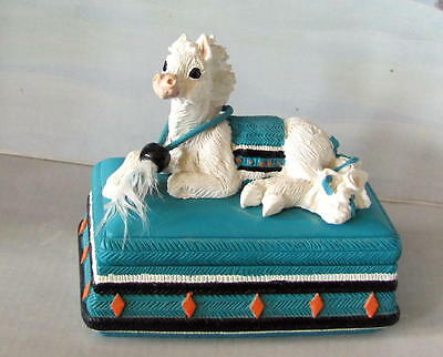 Enesco Corporation Horse Figurine  Trinket Or Jewlery Box  1995