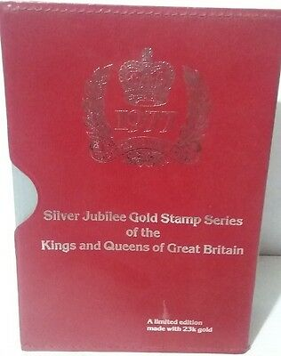 QEII Silver Jubilee 1977 23KT Gold Stamps Set of 30