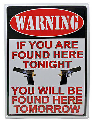 """""""IF YOU ARE FOUND HERE TONIGHT"""" Metal Sign ManCave Humor indoor/outdoor 17""""x12"""""""