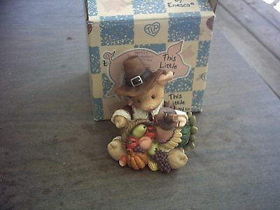 1995 This Little Piggy Gobble,gobble Figurine With Box