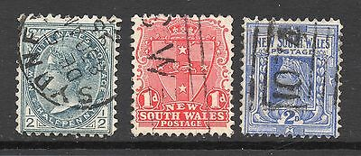 New South Wales #95 & 98-99 used