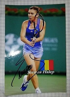 Simona Halep Signed US Open Picture