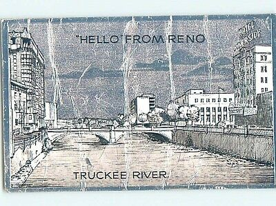 Bent 1957 RIVERSIDE HOTEL ON THE TRUCKEE RIVER Reno Nevada NV hn6066