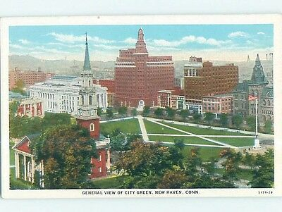 W-Border POSTCARD FROM New Haven Connecticut CT HM8739