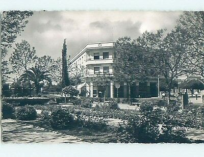 old rppc SHOPS IN LARGE BUILDING Oujda - Wejda - Rif Morocco HM2141