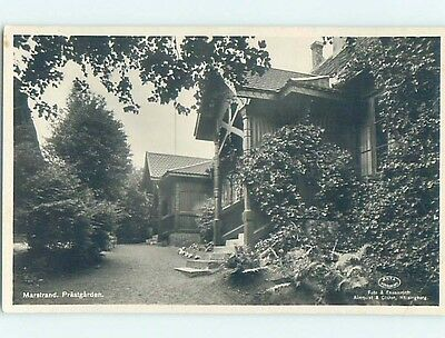 old rppc BUILDINGS AND TREES Marstrand - Kungalv Municipality Sweden HM1609