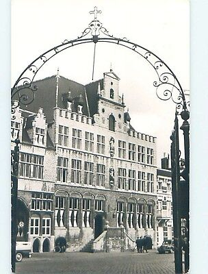 old rppc LARGE BUILDING SEEN THROUGH GATE Bergen Op Zoom Netherlands HM1480