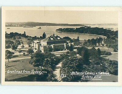 old rppc BOTANICAL GARDEN AND HARBOR Sydney - New South Wales Australia HM1901
