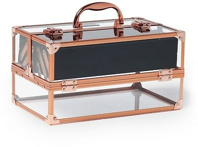 Beautify Acrylic Beauty Case with Rose Gold Frame Portable Make-Up Organiser