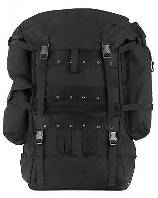 Military Style CFP-90 Large Hiking Camping Survival Expedition Black Backpack