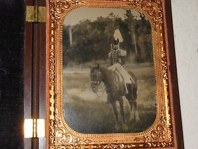 Pre-Civil War Soldier  1/4 Plate  Ambrotype -Thermoplastic Case