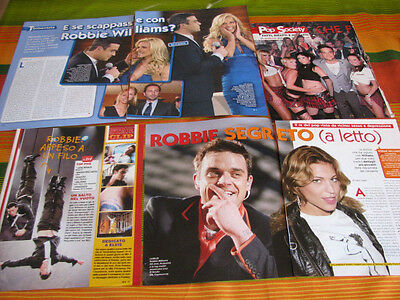 Robbie Williams Take That 32 Italian Clippings Poster Pinups
