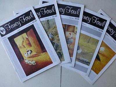 Fancy Fowl Magazine Volume 9 Numbers 1 , 3, 4, 5, 6 1989 - 1990