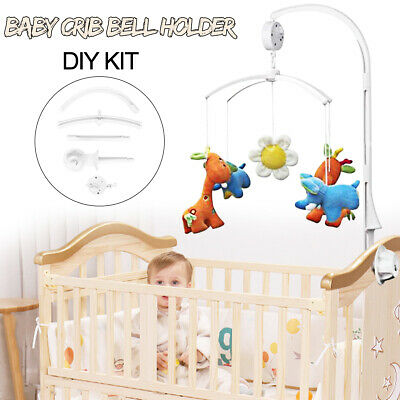 Baby Crib Mobile Bed Bell Toy Holder Arm Bracket + Wind-up Music Box DIY Gift