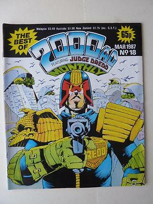 The Best Of 2000AD Featuring Judge Dredd Monthly No 18 1987 VGC