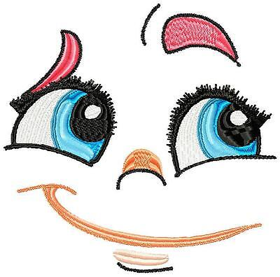 RAG DOLL FACES and FUNNY FACES 30 MACHINE EMBROIDERY DESIGNS CD 2 SIZES