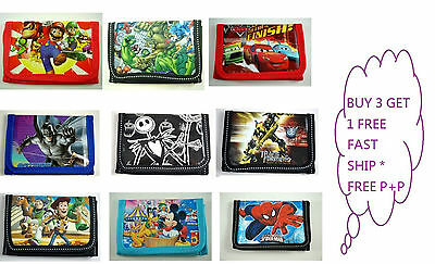 NEW Children Character Wallet, Purse, Coin Bag, Party Bag, Stocking Filler, Gift